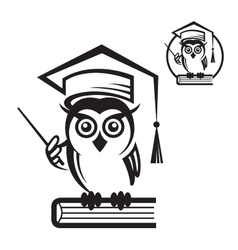 School owl icon vector