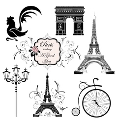 Set on the theme of france vector