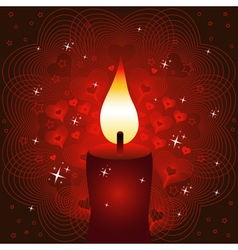 Candle valentines day background or card vector