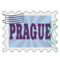 Post stamp of prague vector