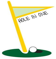 Golf hole in one vector