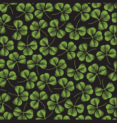 background pattern with clover with three leaf vector image vector image