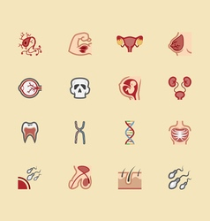 Body element color icon set 2 vector