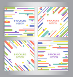 brochure covers with flat geometric pattern vector image vector image