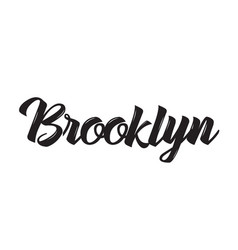 brooklyn text design calligraphy vector image