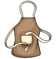 Brown apron vector image vector image