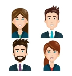 Business people set characters vector