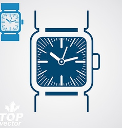 Classic wristwatch vector