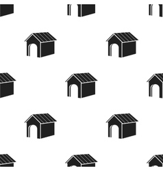 Doghouse icon in black style for web vector