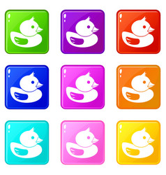 Duck set 9 vector
