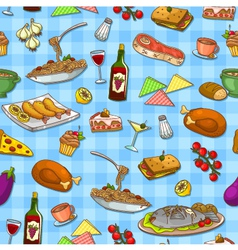 Food pattern vector