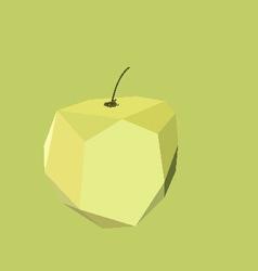 Geometric abstract apple vector