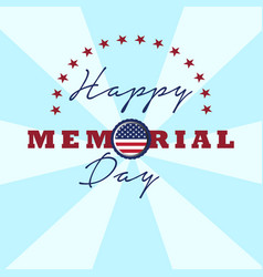 Isolated memorial day background vector