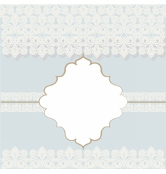 Lace crochet card background vector
