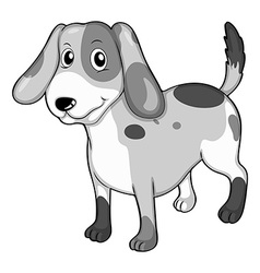 Puppy standing alone on white vector