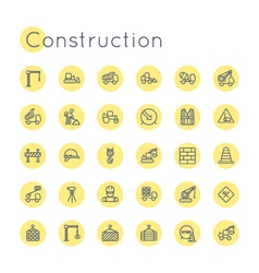 Round Construction Icons vector image vector image