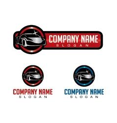 shiny car logo vector image vector image