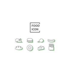 simple food icon vector image