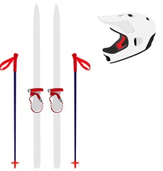 Ski equipment vector image vector image