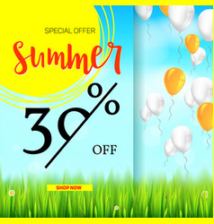 summer selling ad banner vintage text design vector image vector image