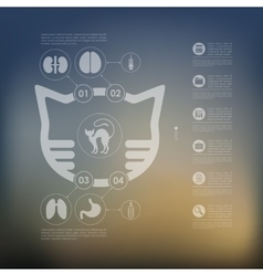 Veterinary infographic with unfocused background vector