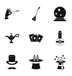 Tricks icons set simple style vector