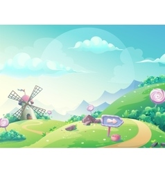 Landscape with marmalade candy vector