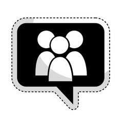 speech bubble with teamwork icon vector image