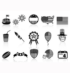 Fourth of july icons set vector