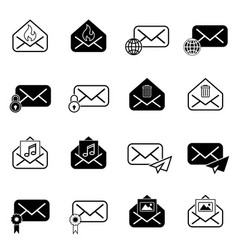 Set with post icons vector