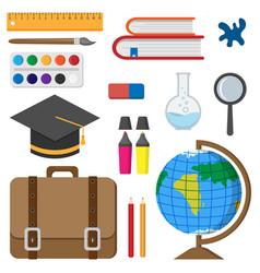 back to school school accessories vector image