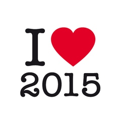 I love 2015 vector