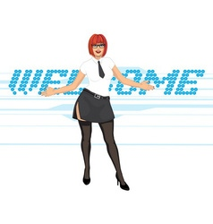 Welcome invitation vector