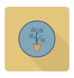 Money flower vector