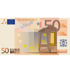 Euro 50 Bank Note vector image