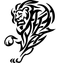 lion in tribal style - vector image