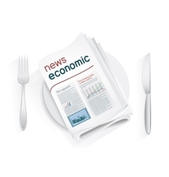Economic news tablewares vector