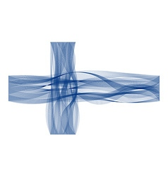 Wave line flag of finland vector