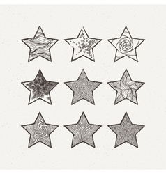 Stars set  pattern geometric vector