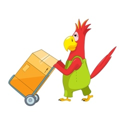 Funny parrot worker vector