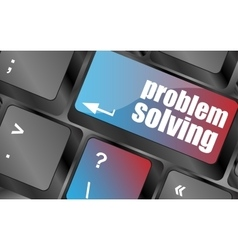 Problem solving button on computer keyboard key vector