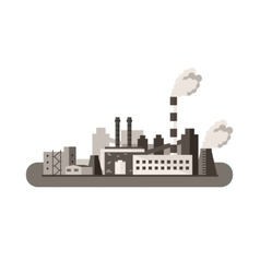 Factory icon pollution concept flat vector