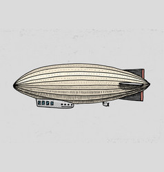 airship or zeppelin and dirigible or blimp for vector image