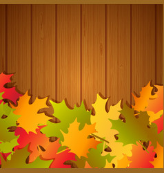Autumn festival frame background vector