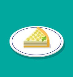 banana cheese cake in 3d cartoon style vector image vector image