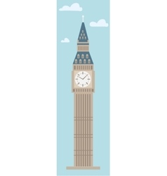 Big Ben Tower on plain background vector image vector image