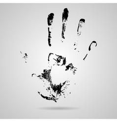 Black smeared hand of mascara vector