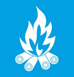 bonfire icon white vector image