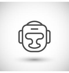 Boxing helmet line icon vector