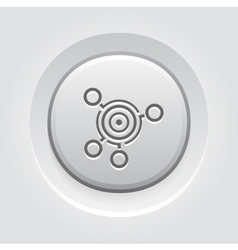 Business goals icon grey button design vector